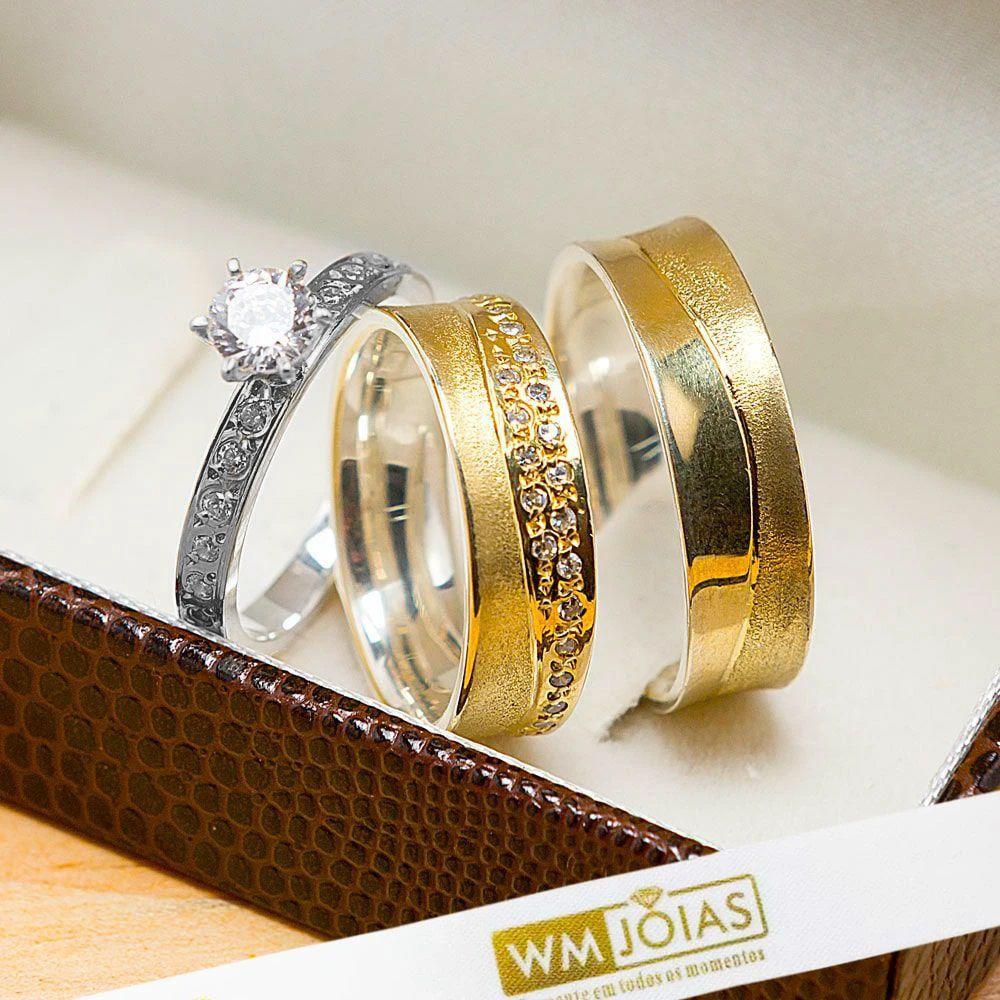 Alianças de noivado com 12 gramas o par WM10233