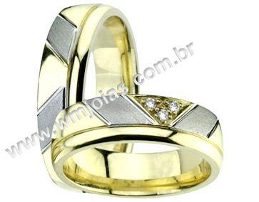 Alianças de noivado e casamento WM1366