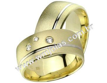 Alianças de noivado e casamento WM1378