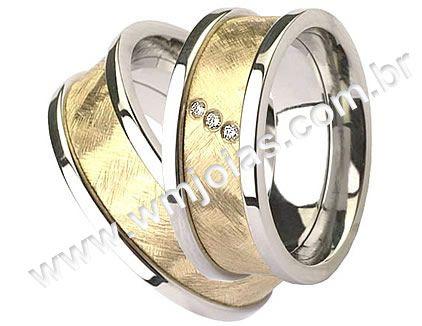 Alianças de noivado e casamento WM1534