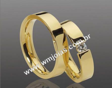 Alianças de noivado e casamento WM2105