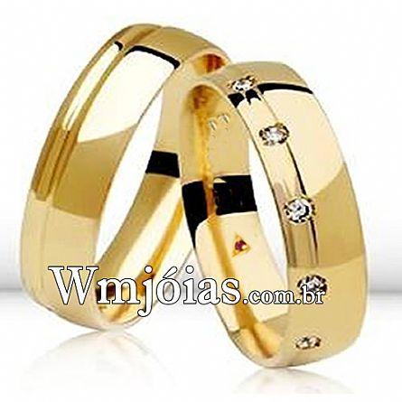 Aliancas de noivado e casamento WM2633