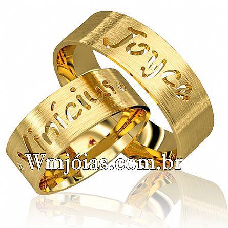 Aliancas de noivado e casamento WM2660