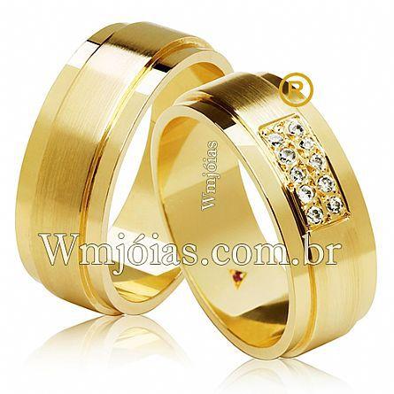 Aliancas de ouro noivado e casamento WM2628