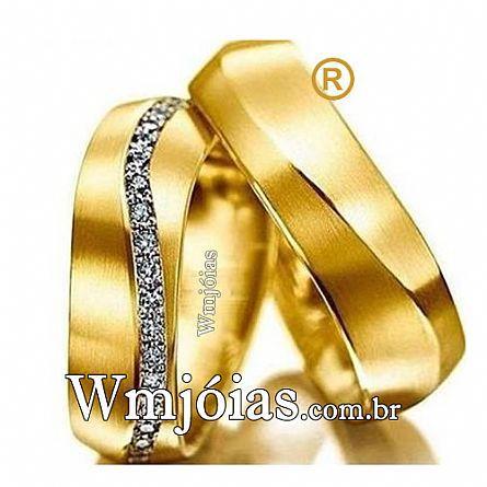Aliancas de ouro noivado e casamento WM2632