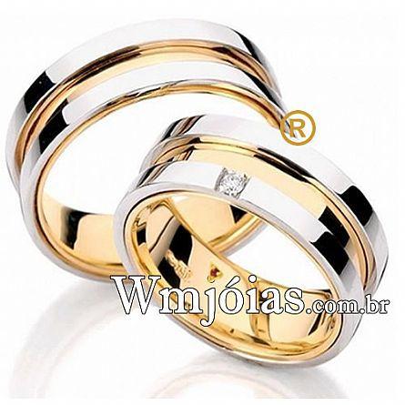 Aliancas de ouro noivado e casamento WM2634