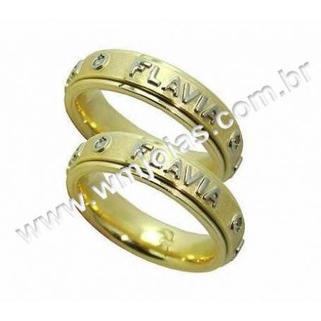 Aliancas em ouro 18k 750 WM2189