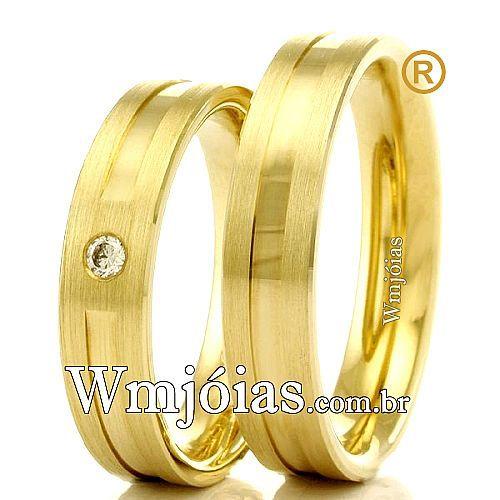 Alianças em ouro 18k 750 WM2321