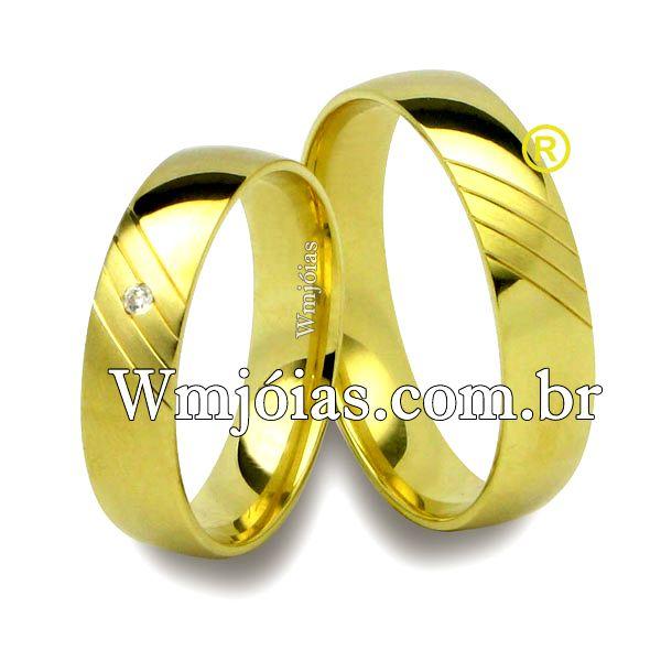 Alianças em ouro 18k 750 WM2511