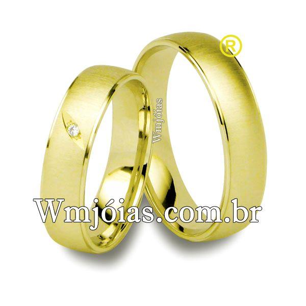 Alianças em ouro 18k 750 WM2517