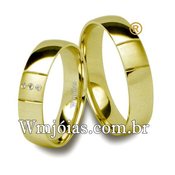 Alianças em ouro 18k 750 WM2552