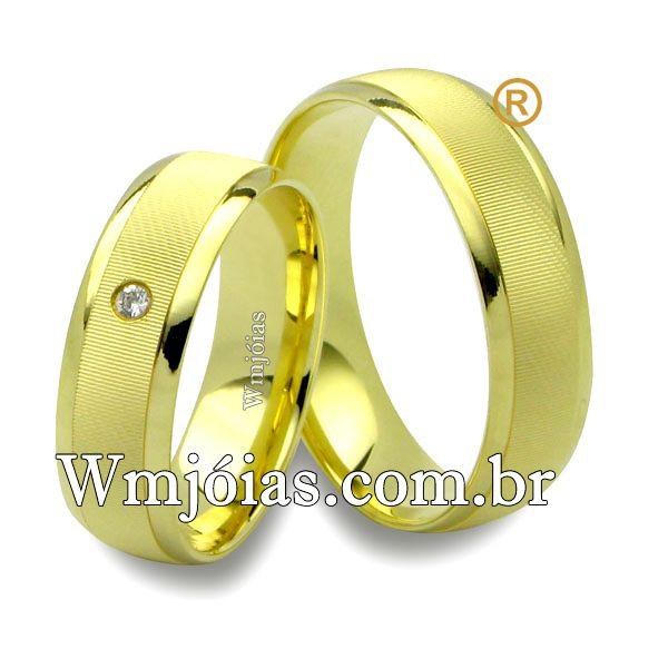 Alianças em ouro 18k 750 WM2554