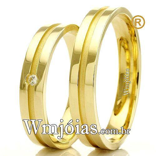 Alianças em ouro 18k para casamento WM2294