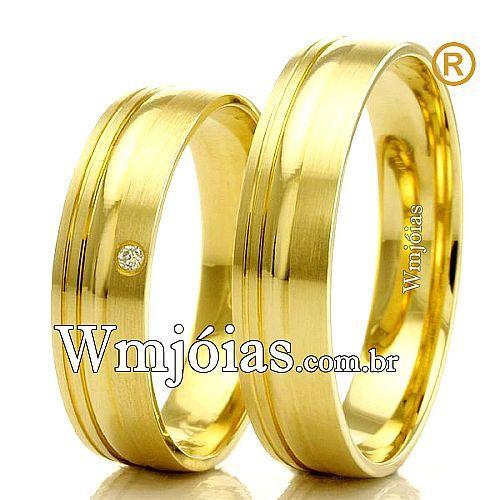 Alianças em ouro 18k para casamento WM2296
