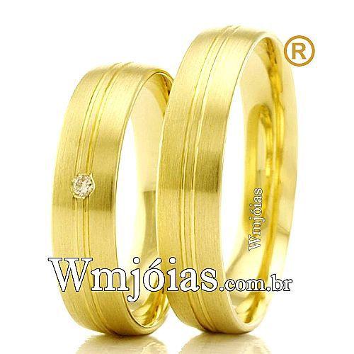Alianças em ouro 18k para noivado WM2351