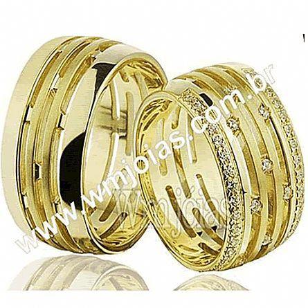 Alianças em ouro 18k WM2257