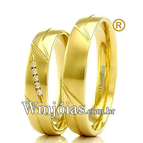 Aliancas em ouro 18k WM2326