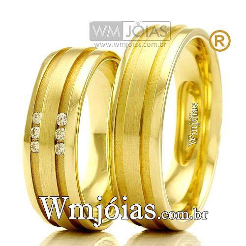 Aliancas em ouro 18k WM2353