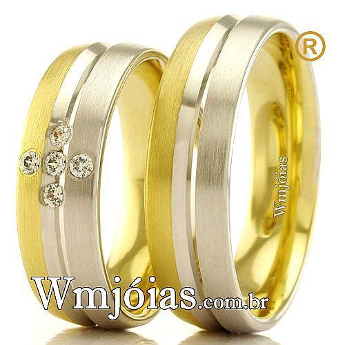 Aliancas em ouro 18k WM2378