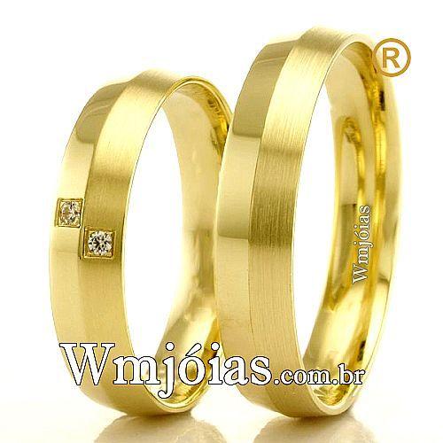 Alianças em ouro 18k WM2382