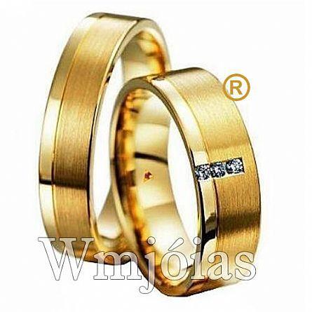Aliancas em ouro 18k WM2636