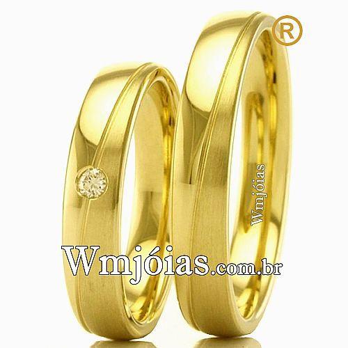 Alianças em ouro para casamento e noivado WM2312