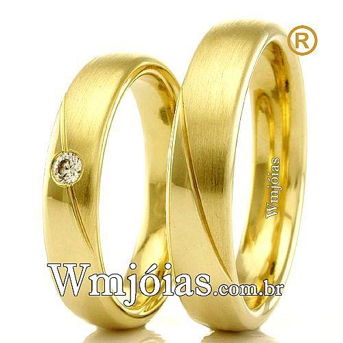 Alianças em ouro para casamento WM2314