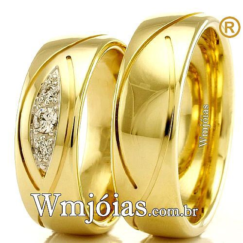 Alianças em ouro para casamento. WM2320