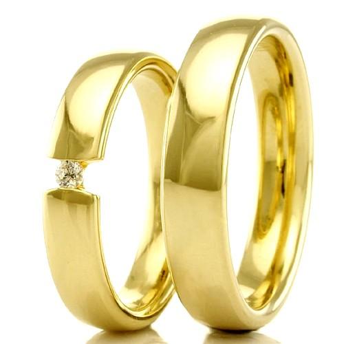 Alianças Envangélicas em ouro 18k 750 WM2289