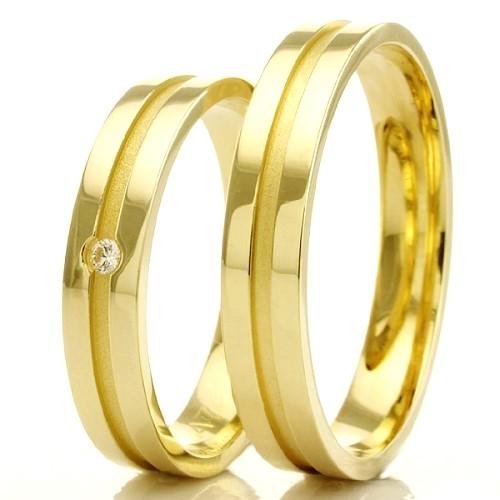 Alianças Evangélicas com friso em ouro 18k para casamento WM2294