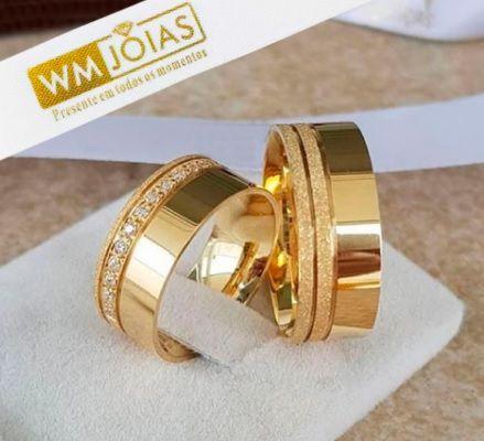 Alianças  Evangélicas para casamento 12G 6mm- WM10192