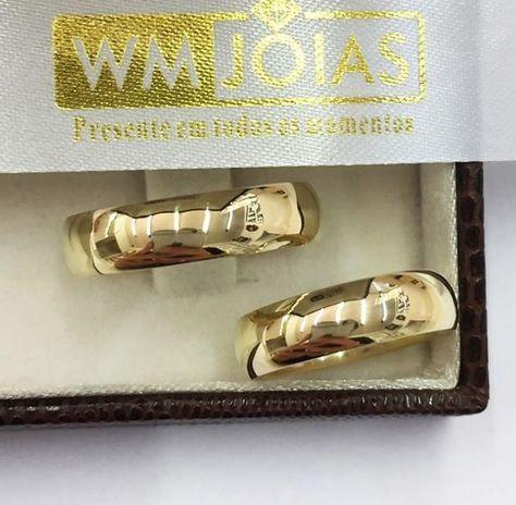 Alianças  Evangélicas  Tradicional e Polida 14G 6mm- WM2735