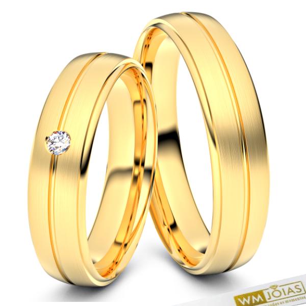 Alianças Florence ouro 18k 750 WM10338