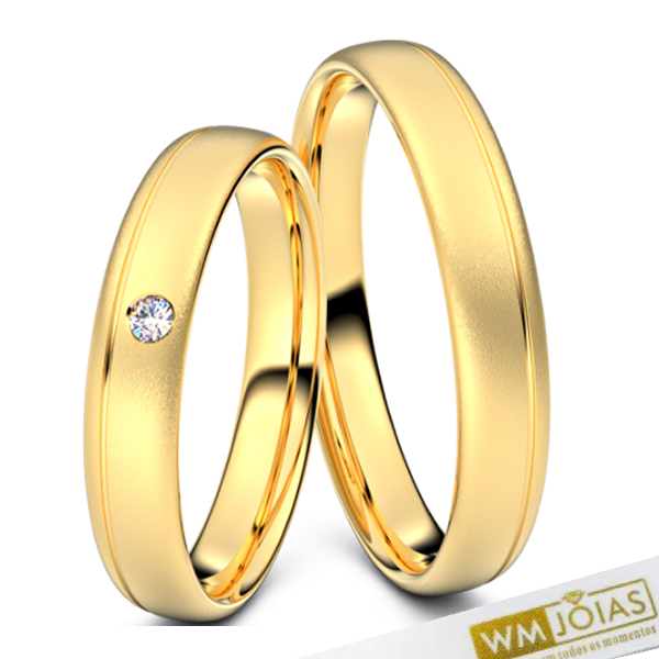 Alianças Manu ouro 18k noivado WM10344