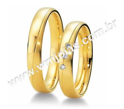 Alianças noivado e casamento Rj WM1982