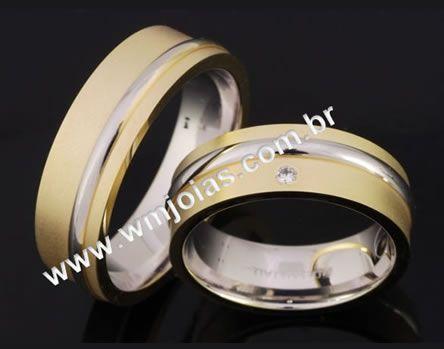 Alianças para casamento e noivado WM2061
