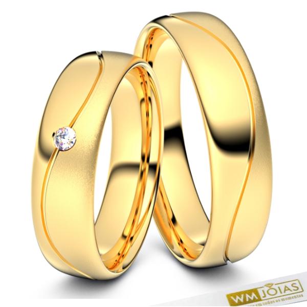 Alianças Turquia ouro amarelo 18kilates 750 WM10346