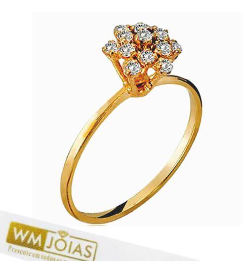 Anel Chuveiro ouro  amarelo 18k 750   WM10157