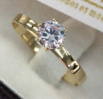 Anel de noivado em ouro 18k 750 Modelo Cálice  WM10049