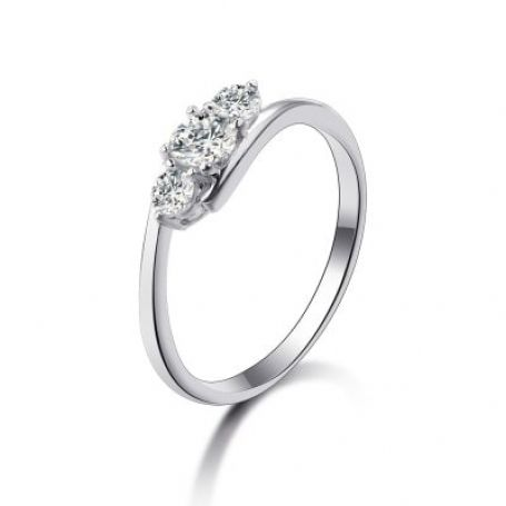 Anel de noivado em prata WM3206