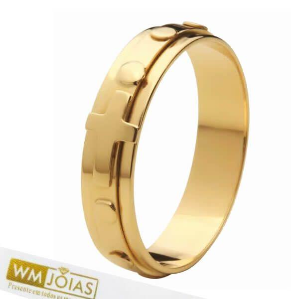 Anel de Ouro  Terço Giratório WM10173