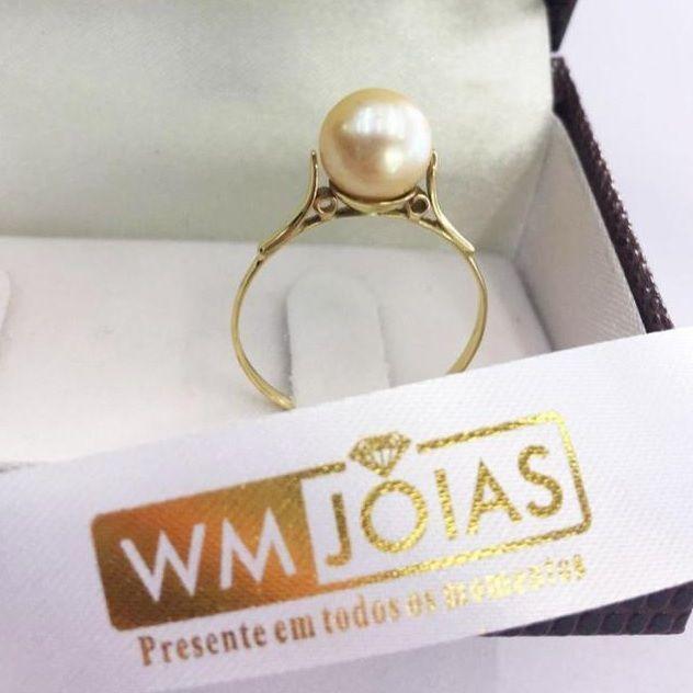 Anel de pérola ouro 18k 750 WM10104