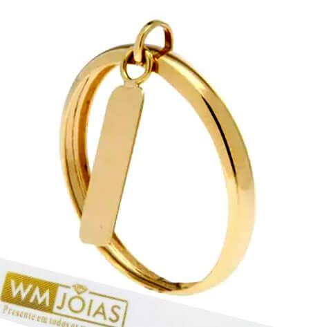 Anel de Plaquinha em Ouro WM10164