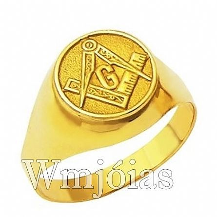 Anel Maçonaria ouro 18k 750 WM2907