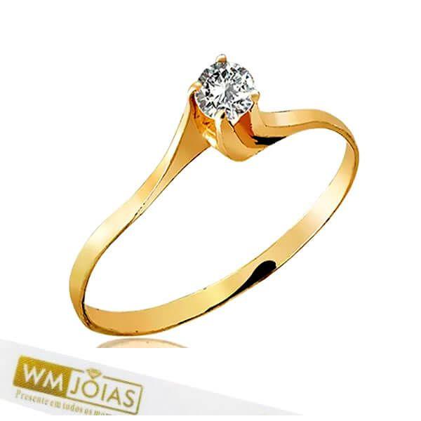 Anel Neri Ouro Amarelo 18k WM10168