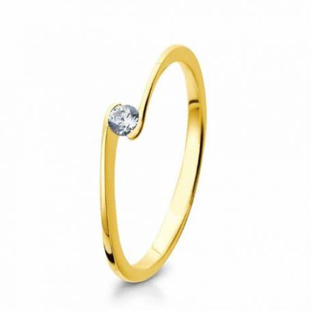 Anel para Noivado em ouro amarelo WM3124