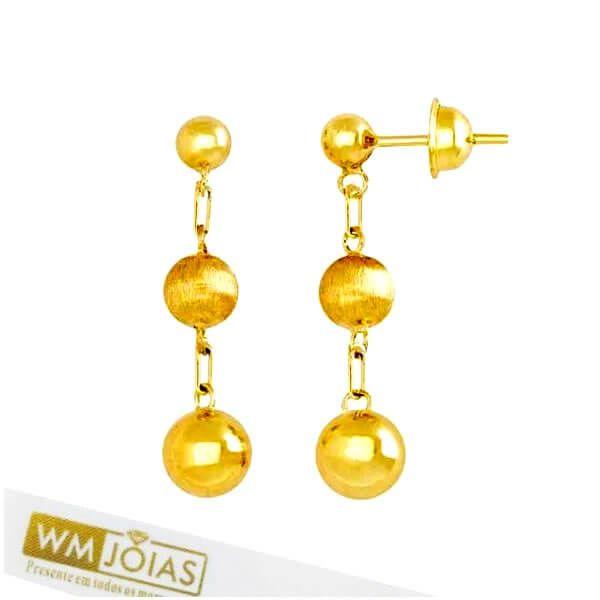 Brinco em Ouro Amarelo 18k 750 WM10181