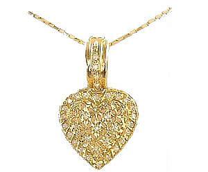 Pingente de ouro coração WM1200