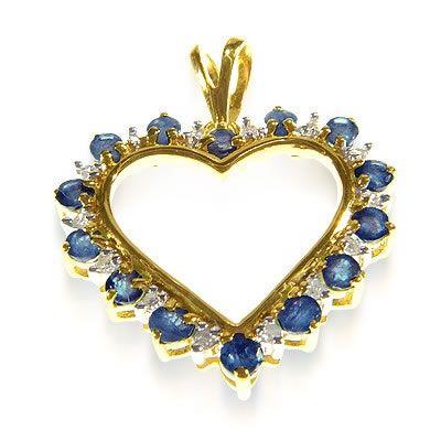 pingente em ouro coração WM1198