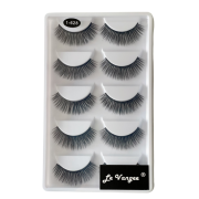 Caixa 5 Pares De Cílios Postiços Premium #1-628 - Le Vangee